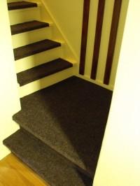 Trap bekleed met tapijt